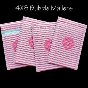 100 - 4X8 Packed With Love... Poly Bubble Mailers
